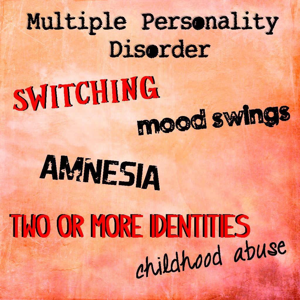 multiple personality disorder Multiple personality disorder presenting as postpartum depression sally l  satel , and frances c howland sally l satel search for more papers by this.