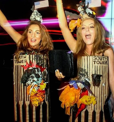 British women dress up as 9 11 twin towers funny