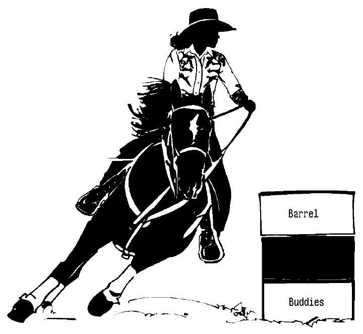 Barrel Racing Outline