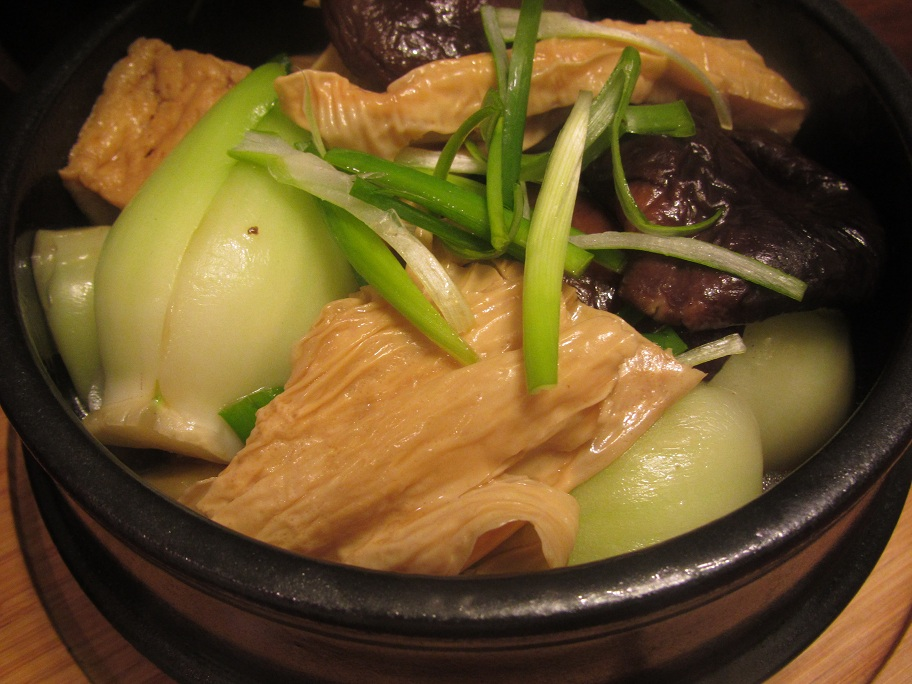 Mushroom and Tofu in Clay Pot