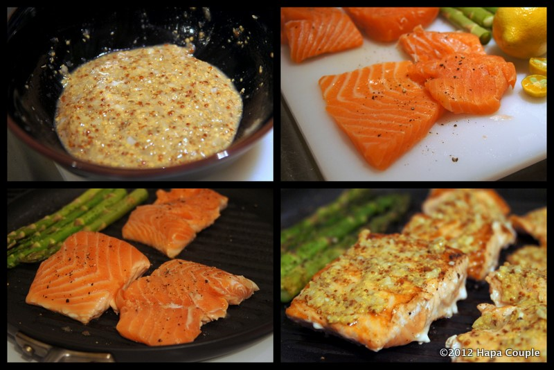 ... Skinnytaste's Grilled Garlic Dijon Herb Salmon (It's a Dukan recipe