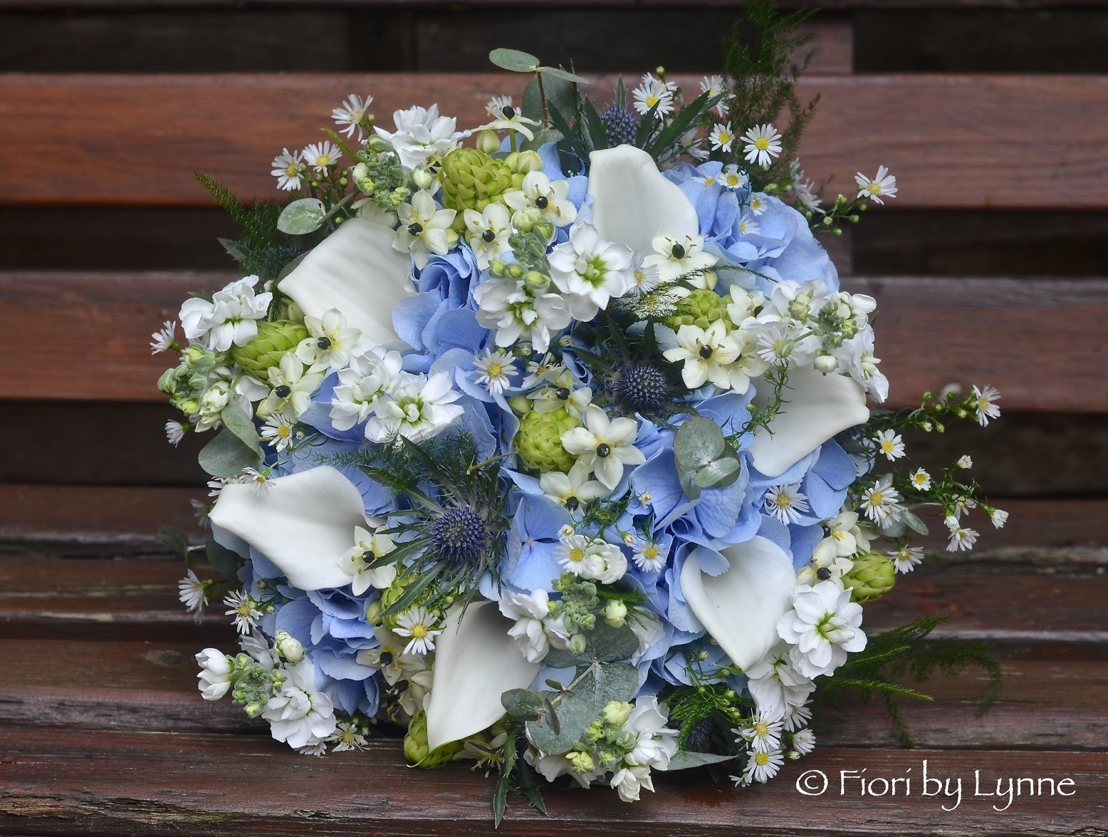 Wedding Flowers Blog: Jennie\'s Rustic Blue, Silver and White Wedding ...