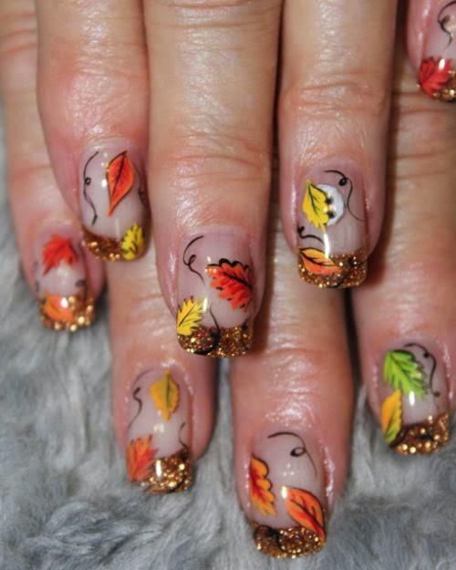 2014 Nails Art Designs For Fall Of New Year 2014