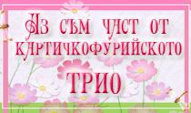 КПФ № 87, 7-17. 10. 2011г., КФП №97, 16-26. 12. 2011г. и КФП №112, 13-23, 04, 2012г.