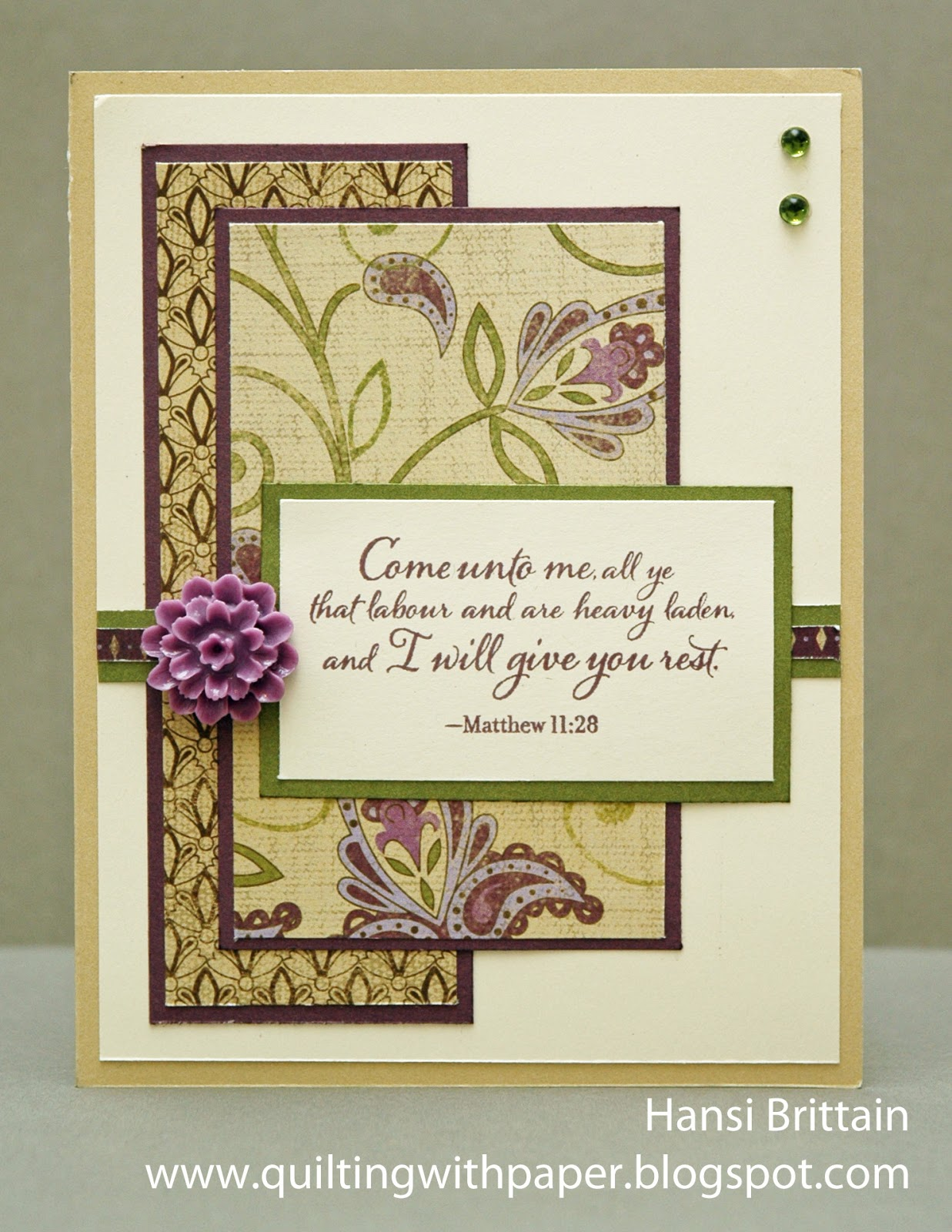 quilting with paper  a sympathy card