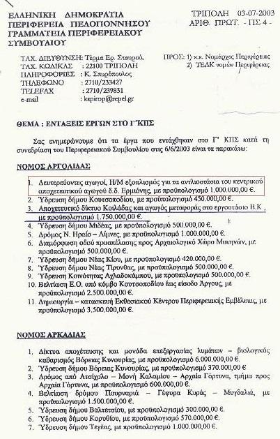 Ο πάλαι ποτέ Δήμος Ερμιόνης και η δημοτική του αρχή, επί 16 χρόνια, - έτσι χύμα....