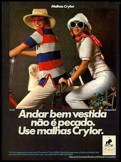 malhas Crylor década de 70; Rhodia anos 70; moda inverno década de 70; roupas anos 70; moda anos 70; propaganda anos 70; história da década de 70; reclames anos 70; brazil in the 70s; Oswaldo Hernandez
