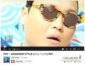 Psy-Oppa Gangnam Style hits 1 billion views