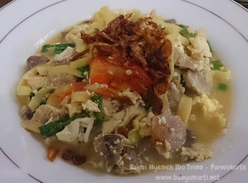 Kuliner Purwokerto - Bakmi Nyemek Bu Trimo