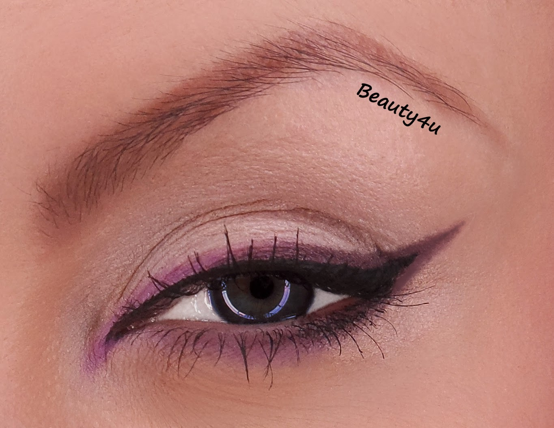 Ombre violet - makeup