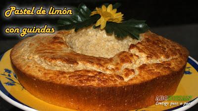 Pastel de limón con guindas-receta fase ataque