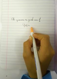 ilkokul da el yazısı