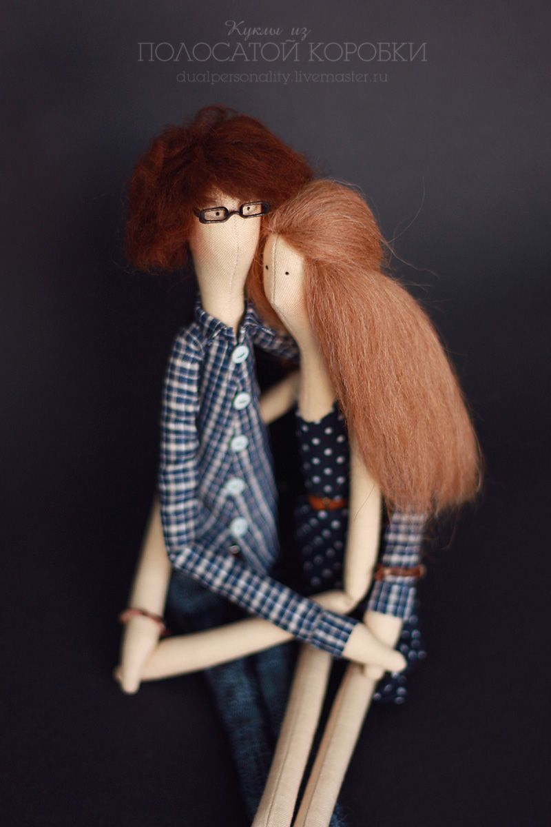 Портретные текстильные куклы — пара