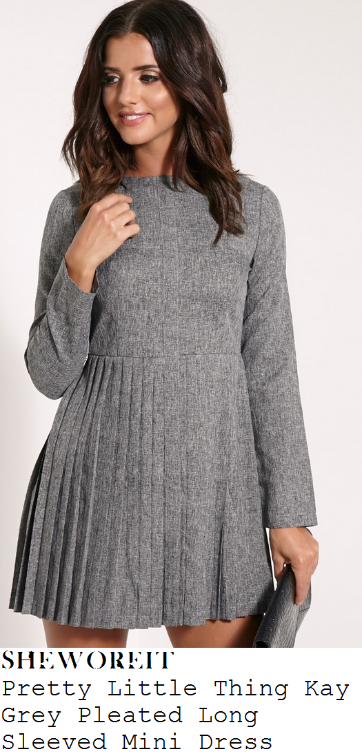 chloe-sims-grey-long-sleeve-pleated-smock-mini-dress