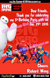 Thank Card Big Hero Richard Sample Tema Design Thanks Card (Kartu Ucapan Terima Kasih)