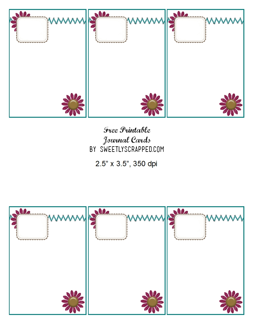 Selective image inside free printable journal cards