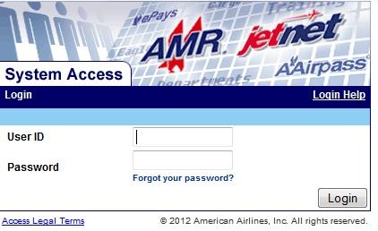 www.Jetnet.aa.com American Airlines Jetnet AA