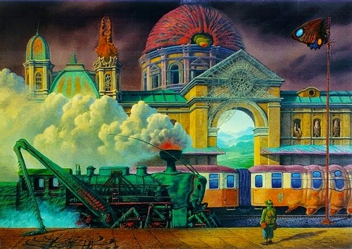 05-Insect-Hunter-Marcin-Kołpanowicz-Painting-Architecture-in-Surreal-Worlds-www-designstack-co