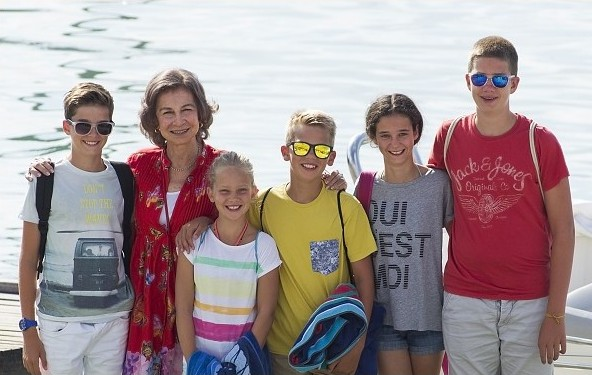 Queen Sofia Of Spain On holiday In Mallorca