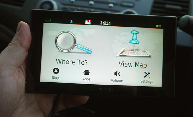 Garmin 2699LMT-D home screen