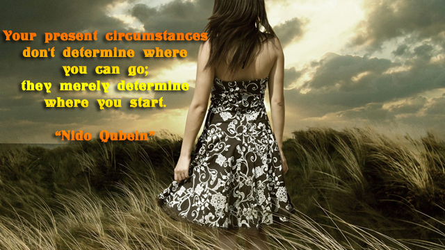 facebook Poste image quotes (Your present circumstances don't determine where ...)