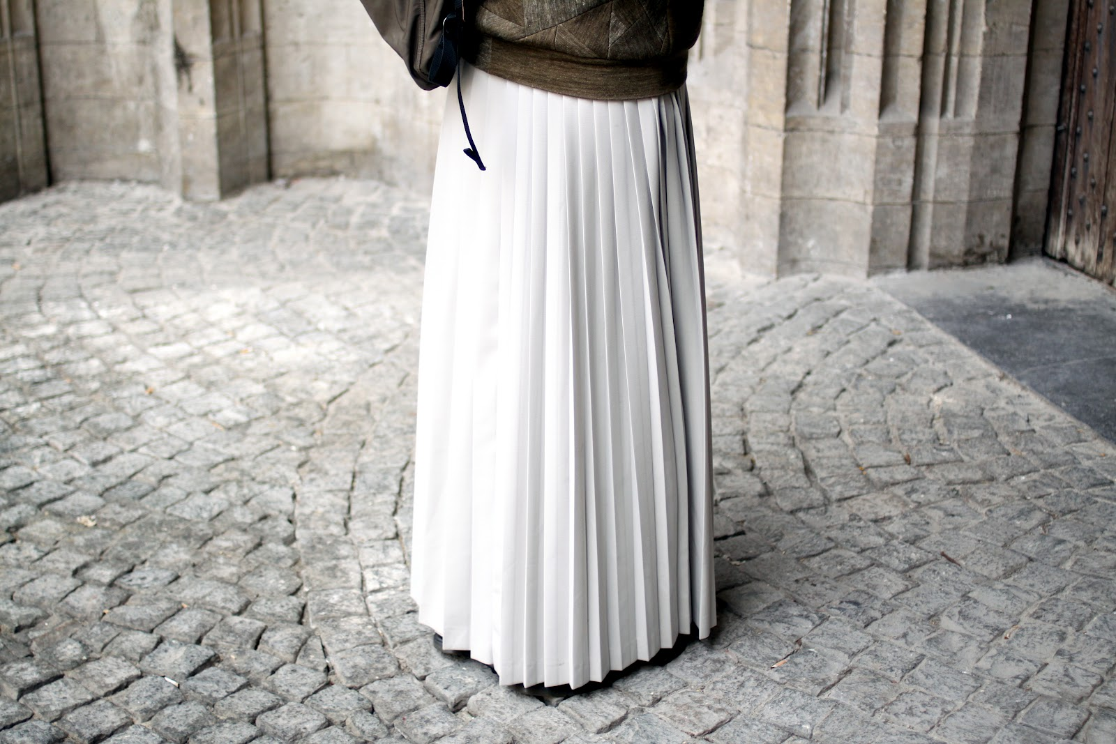 AF Vandevorst skirt on cobbles