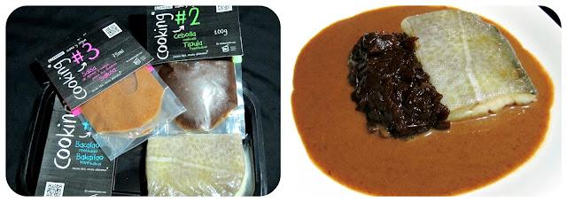 Eroski Cooking - Bacalao con cebolla confitada y salsa de oporto y hongos