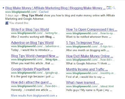 Blogging Tips,Google Update Sitelinks , New Google Sitelinks Design