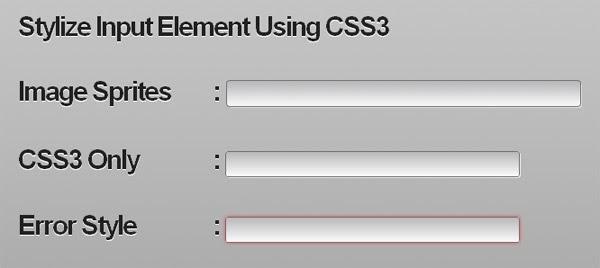 Stylize Input Element Using CSS3