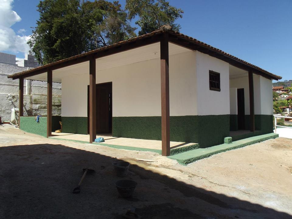 Capela mortuária do Cemitério Municipal de Bonsucesso, no interior: obras de revitalização estão na fase final