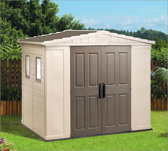 Outdoor storage shed plan for Caseta de pvc para jardin