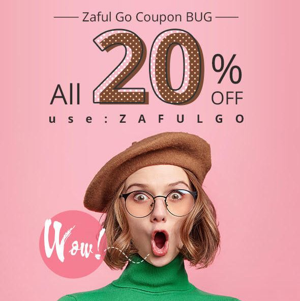 Wow! Zaful Coupon Bug!!! All 20% OFF Use: zafulgo