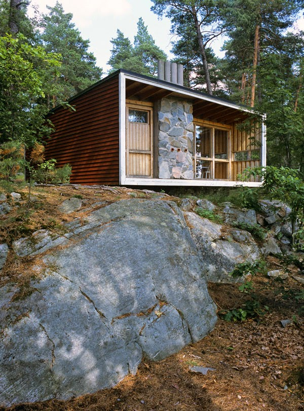 ralph erskine room house built on rocks