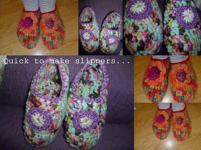 Ladies slipper pattern