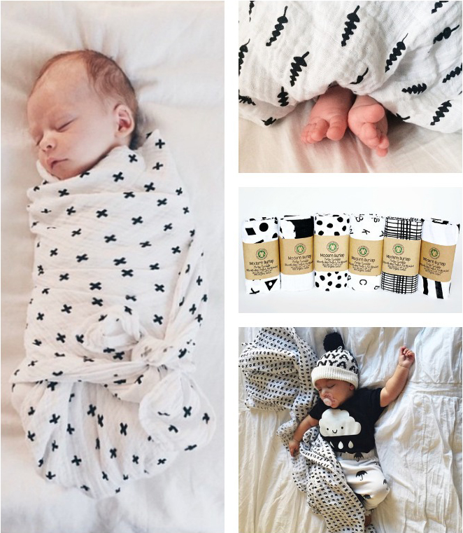 Soft must-haves for the newborn baby - Modern Burlap baby swaddles