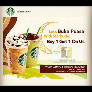 Starbucks Let's Buka Puasa Buy 1 FREE 1 2012