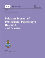 Pakistan Journal of Professional Psychology Research and Practice