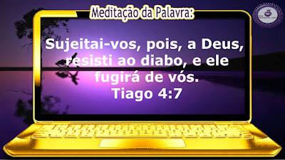 Blog e Canal Roxachic: Tiago 4:7