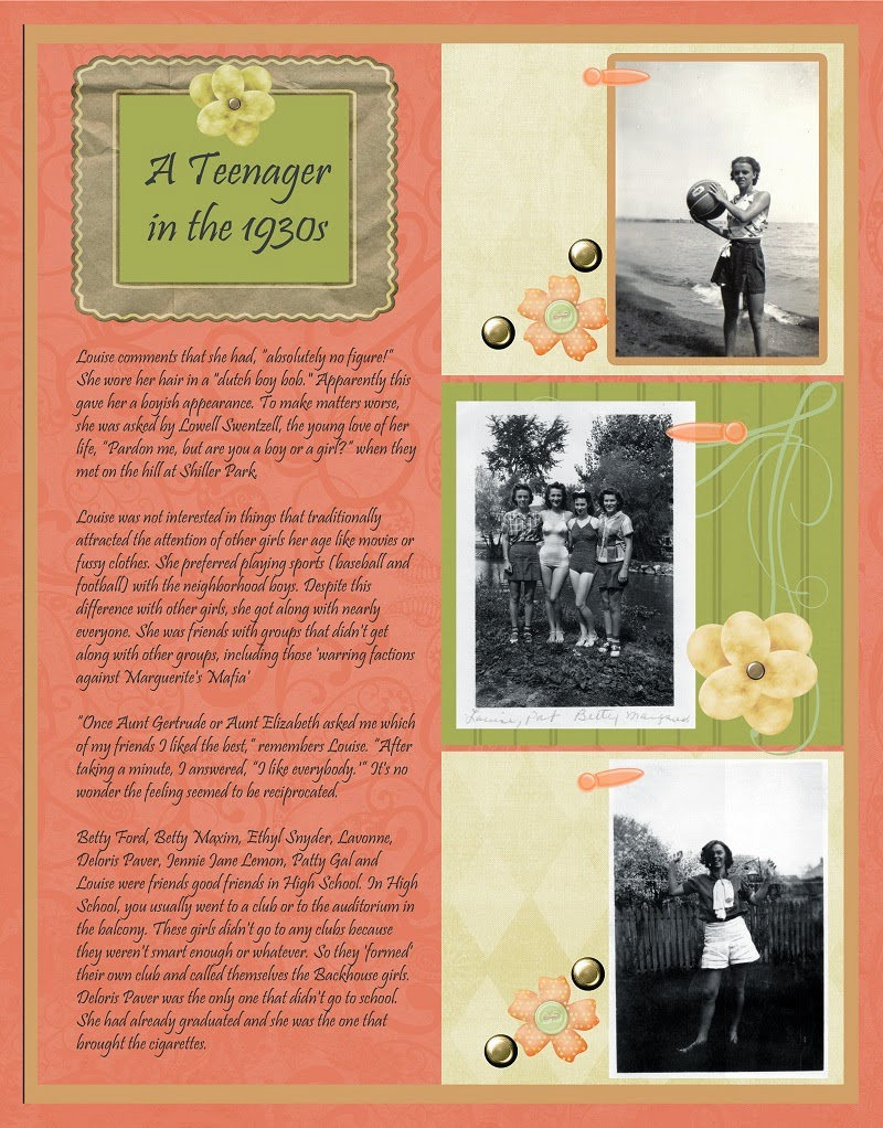 Vintage Scrapbook Layout