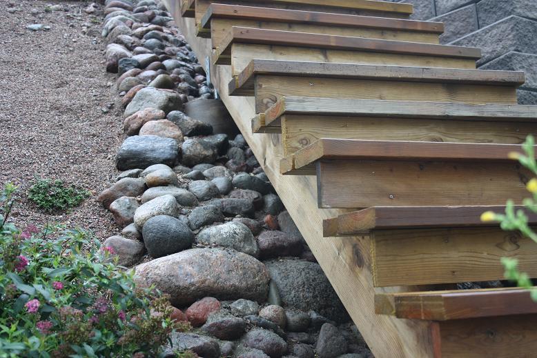 Lisa´s Trädgård: Mina trappor utomhus : bygga trappa : Trappa