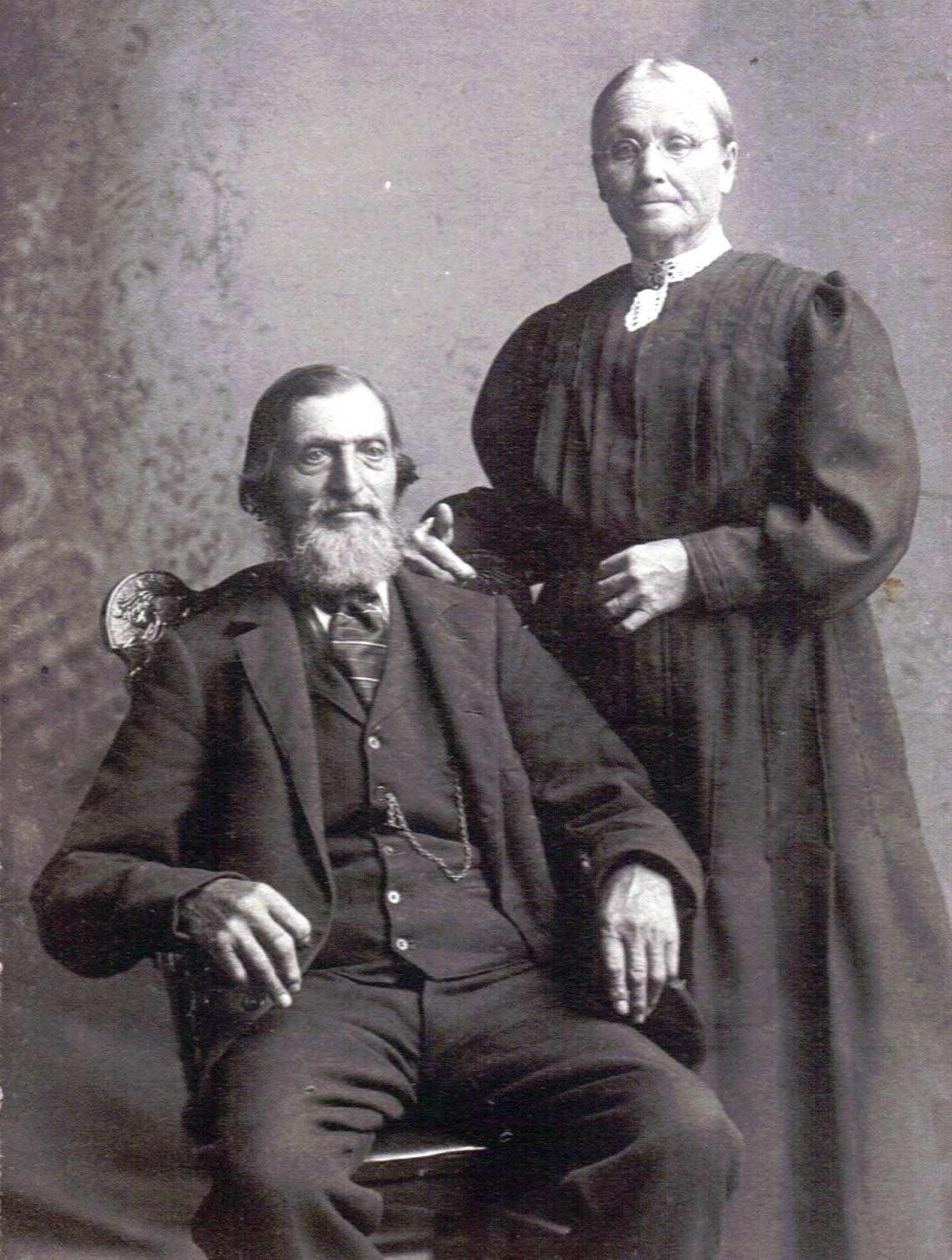 STEPHEN & JANE JEFFERY in 1900