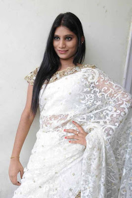 midhuna in saree actress pics