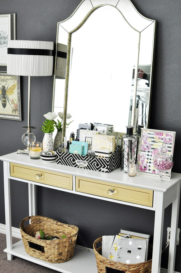 this black white u0026 gold home office is filled with diy projects and inspiration that