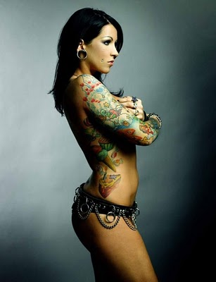 Hot tattoo sexy girl