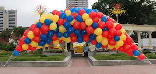 balon gas dengan jaring