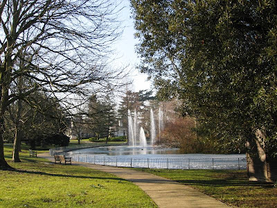 Fountains on a sunny day in the park