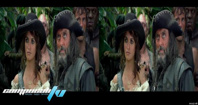 Piratas del Caribe 4: Navegando aguas misteriosas 3D SBS 1080p