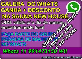 TEM SURUBA DO PEGADAS QUINTA FEIRA 02/04 NA SAUNA NEW HOUSE E TEM VIP TOTAL