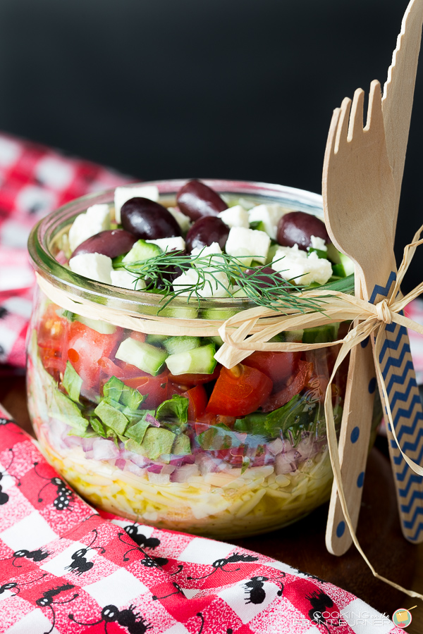 Greek Orzo Summer Salad | Cooking on the Front Burner