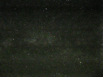 milky way in summer triangle processed in photoshop